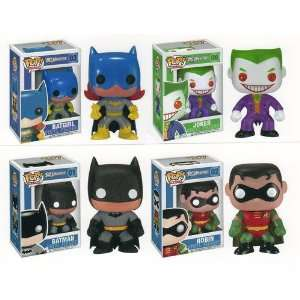 BATMAN, ROBIN, BATGIRL, & JOKER 3.75 Pop Vinyl Figure SET OF 4 Toys