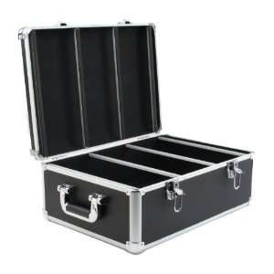 Hard CD Case, 600 Capacity (CD Holder Cases) Black PVC Leather Case