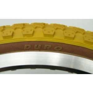 Comp 3 old school BMX skinwall bicycle tire   20 X 2.125   YELLOW