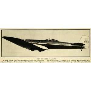 1932 Print Boeing Airplane Monomail Aviation Mail Plane