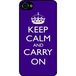 Carry On   Purple Color Rubber Black iphone Case (with bumper) Cover
