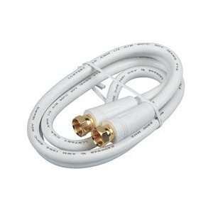 RCA 6Feet Coaxial Cable With RG6 Connectors White High