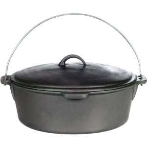 Camp Chef Pre   seasoned Cast Iron 16 Dutch Oven