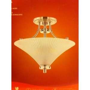2 Light 16 Chrome Ceiling Semi Flush Mount