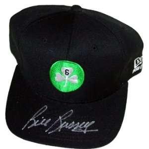 Bill Russell Black Celtics Baseball Cap Autographed