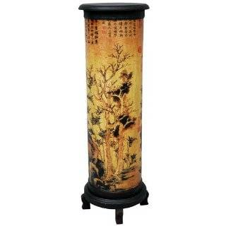 Oriental Style Flower Display Plant Stand with Irises Home & Kitchen
