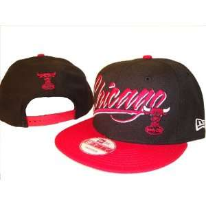 Chicago Bulls New Era 9Fifty Black & Red Adjustable Snap Back Baseball