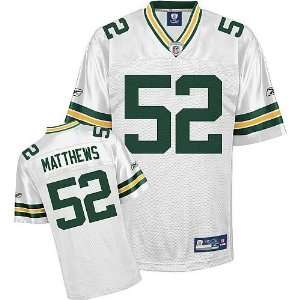 Reebok Clay Matthews Green Bay Packers White Authentic Jersey