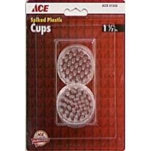 Cd/4 x 6 Ace Round Clear Plastic Spiked Caster Cup for