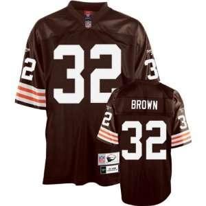 com Men`s Cleveland Browns #32 Jim Brown Team Retired Premier Jersey