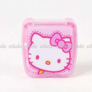 Kitty Contact Lens Case Box Mirror Set Pink