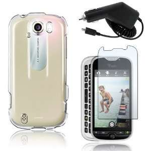 Clear Crystal Hard Plastic Skin Case Cover + Car Charger + Clear