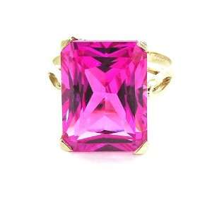 cut Pink Sapphire Ring   Size 5   Finger Sizes 5 to 12 Available