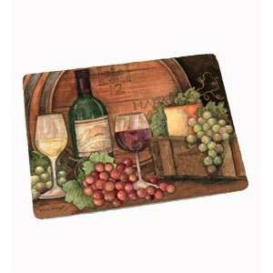 Large Glass Cutting Board Fruit and Wine  Kitchen & Dining