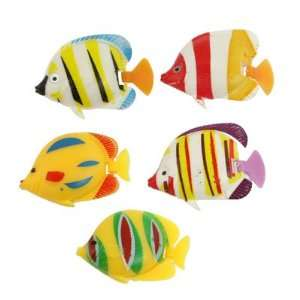 Pcs Colorful Plastic Stripe Fish Decor for Aquarium: Pet Supplies