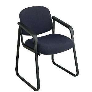 Office Chair   Deluxe Sled Base Arm Chair Evergreen