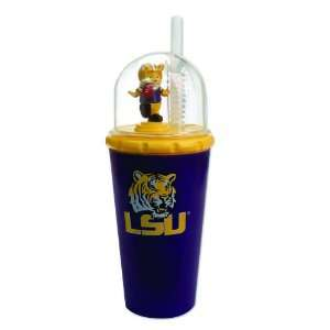 LSU Tigers Animated Mascot Childrens Drinking Cups: Kitchen & Dining