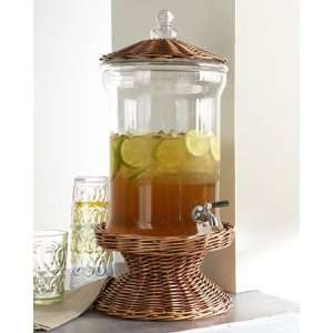 Willow and Glass Beverage Dispenser  Home & Kitchen