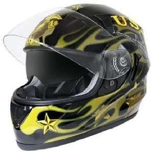 Hawk ST 1150 Glossy Dual Visor Full Face Motorcycle Helmet with U.S