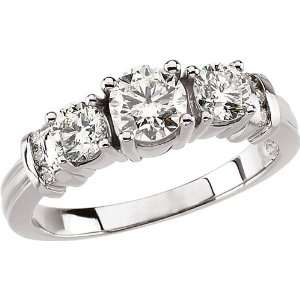 14 karat white gold Diamond Anniversary Ring Diamond