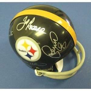 Ernie Holmes Signed Mini Helmet   Greenwood White Greene