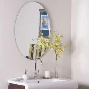 Egg Shaped Frameless Wall Mirror