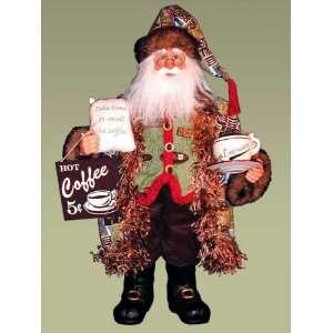 Karen Didion Originals 20 Heirloom Coffee Santa #CC20 15