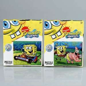 : Nickelodeon Spongebob Squarepants 48 Piece Puzzle Set: Toys & Games