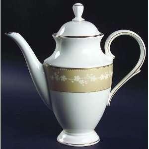 Lenox China Bellina Gold Trim Coffee Pot & Lid, Fine China