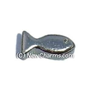 Fish Floating Locket Charm Jewelry