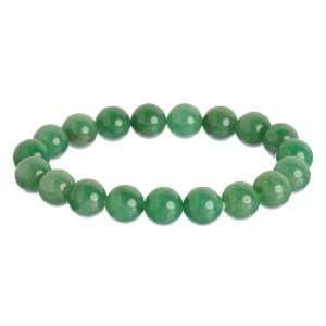 10mm Green Aventurine Bead Stretch Bracelet Jewelry