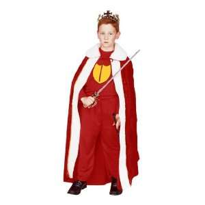 Childs Red King Halloween Costume (SizeLarge 12 14