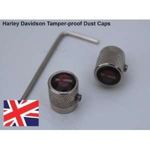 Zinc Harley Davidson Dust Valve Caps