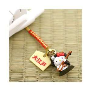 Sanrio Hello Kitty Time Trip to Edo Cell Phone Strap Geiko