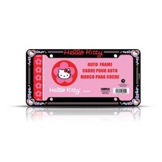 Hello Kitty Glitter License Plate Frame (Made of Plastic)