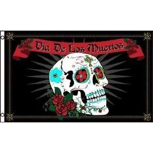 3x5 Dia de los Muretos Day of the Dead Sugar Skull