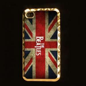 The Beatles Band Printing Golden Case Cover for Iphone 4 4s Iphone4