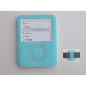 Silicone Skin Case (Blue) for Apple iPod Nano 3rd Generation (Nano