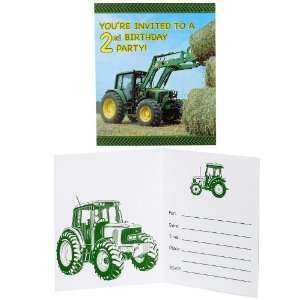 John Deere 2nd Birthday Invitations   8 Count Toys