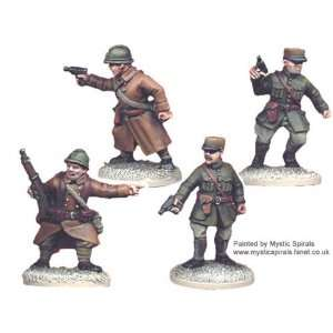 Miniatures   World War II: French Infantry Command (4): Toys & Games