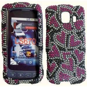 Nightly Hearts Full Diamond Bling Case Cover for LG Optimus S U V