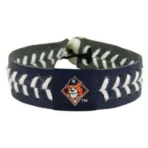 MLB Detroit Tigers Mascot Team Color Baseball Bracelet