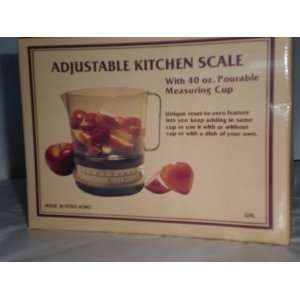 Adjustable Kitchen Scale with 40oz. Measuring Cup