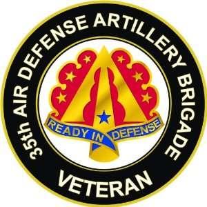 US Army Veteran 35th Air Defense Artillery Brigade Unit Crest Decal