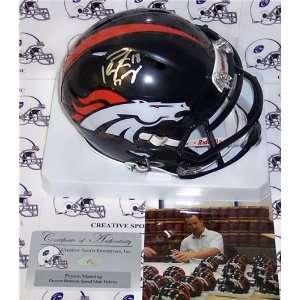 Autographed/Hand Signed Broncos Speed Mini Helmet