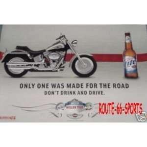 HARLEY DAVIDSON MOTORCYCLES 100 YEAR LOGO BEER POSTER