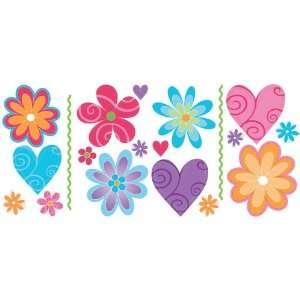 Blue Mountain Wallcoverings GAPP1772 Just for Kids Flirty Flowers Self