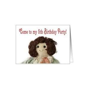 Rag Doll, Come to my 5th Birthday Party Card Toys & Games