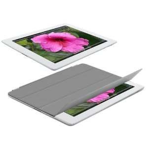 Navitech Grey Magnetic Smart Cover For The New ipad (third