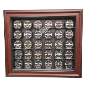 Detroit Red Wings 30 Hockey Puck Display Case, Cabinet
